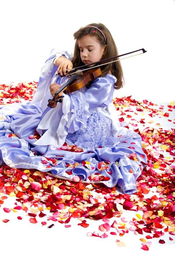 Petits princesse et violon photos stock