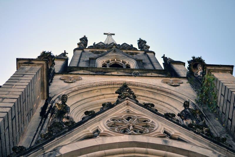 Petopolis, Rio de Janeiro, Brazilië 07 juli 2019: Kathedraal van st peter in Petropolis stock foto