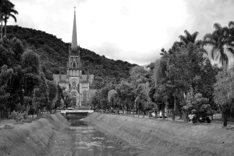 Petopolis, Rio de Janeiro, Brazylia 18 LIPCA 2019 R.: Katedra Najświętszej Maryi Panny w Petropolis zdjęcia royalty free