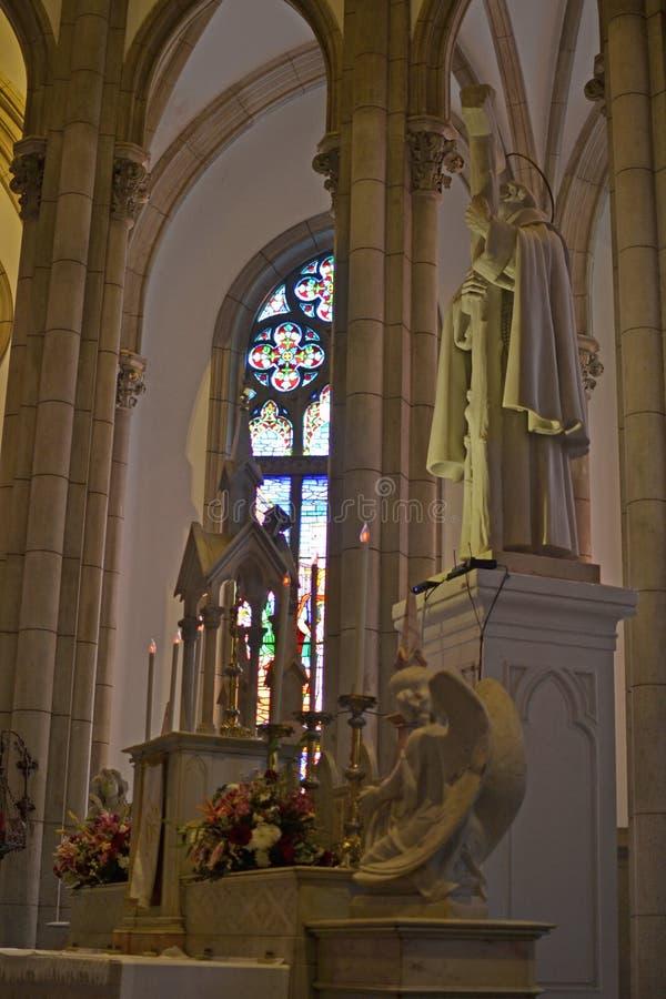Petopolis, Rio de Janeiro, Brazylia 07.07.2019 r.: Katedra Najświętszej Maryi Panny w Petropolis obraz stock