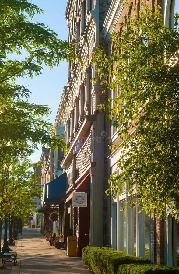 Petoskey Mitchell Street royalty-vrije stock afbeeldingen