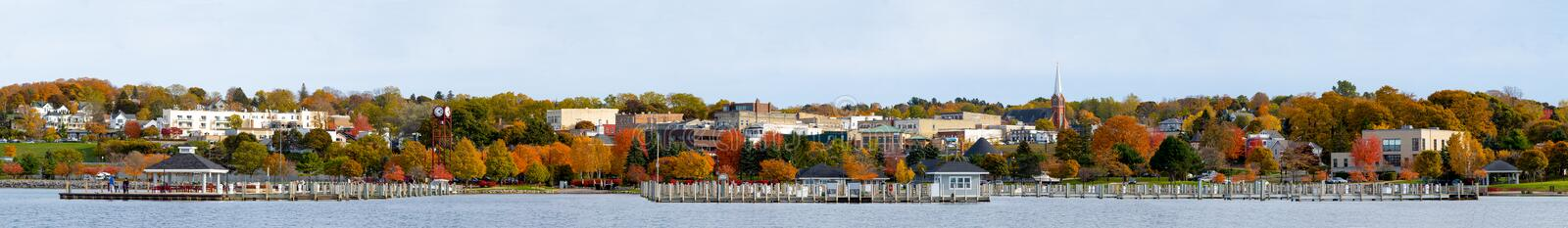 Petoskey. Bay during autumn, resort city in the state of Michigan, United States of America stock photo