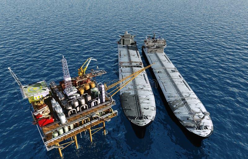 Petróleo. ilustração royalty free