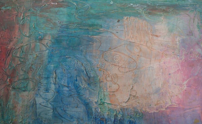 Petróleo abstrato fundo pintado handmade imagem de stock