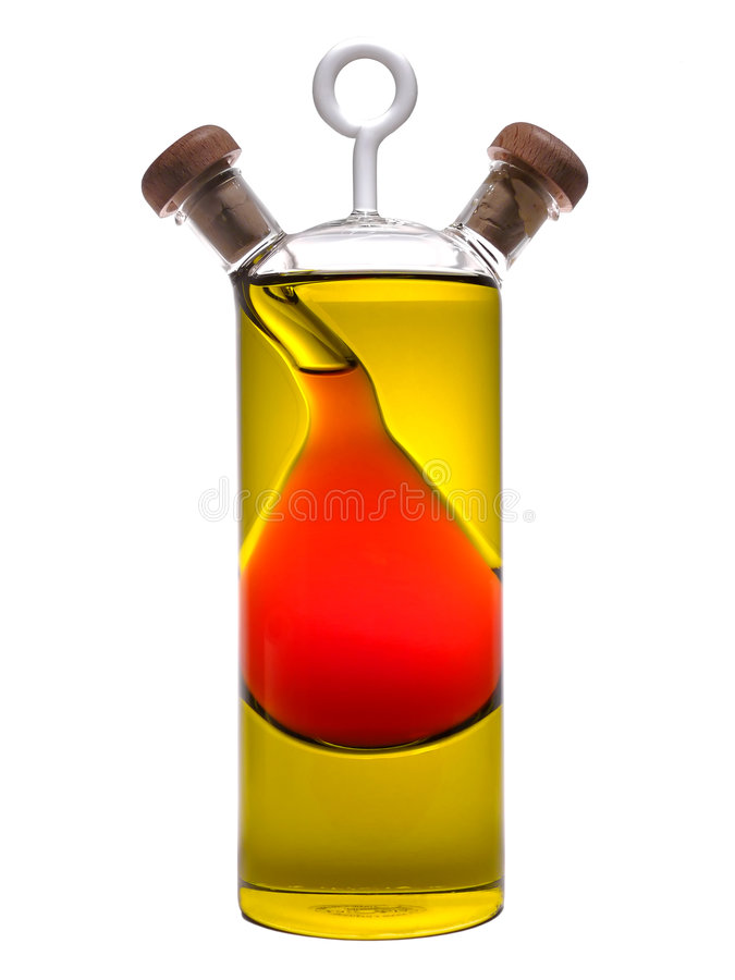 Petróleo & vinagre foto de stock royalty free