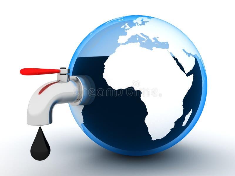 Petróleo común global ilustración del vector