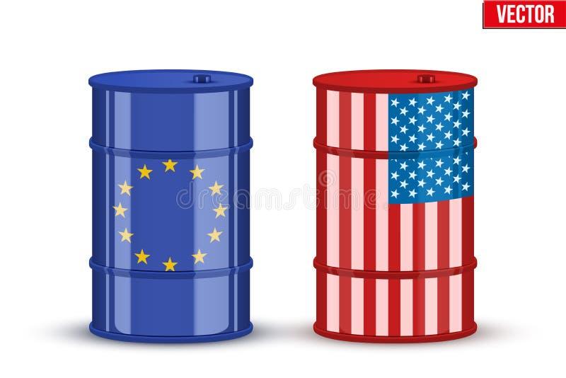 Petróleo crudo BRENT y WTI de la prueba patrón libre illustration