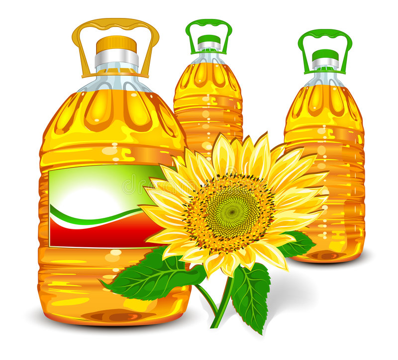 Petróleo de girasol ilustración del vector