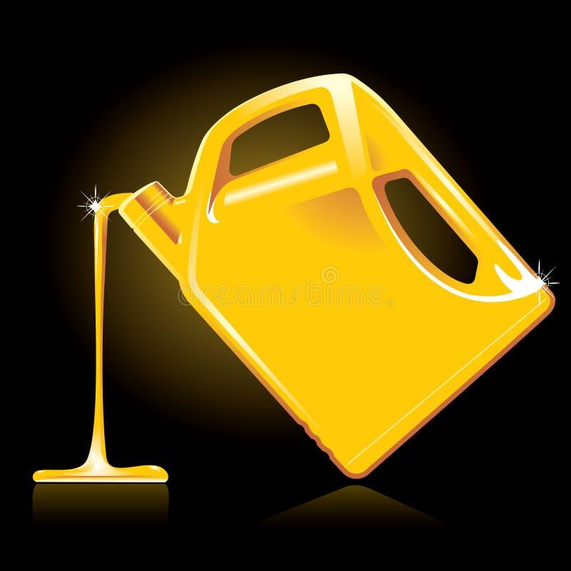 Petróleo de motor ilustração royalty free