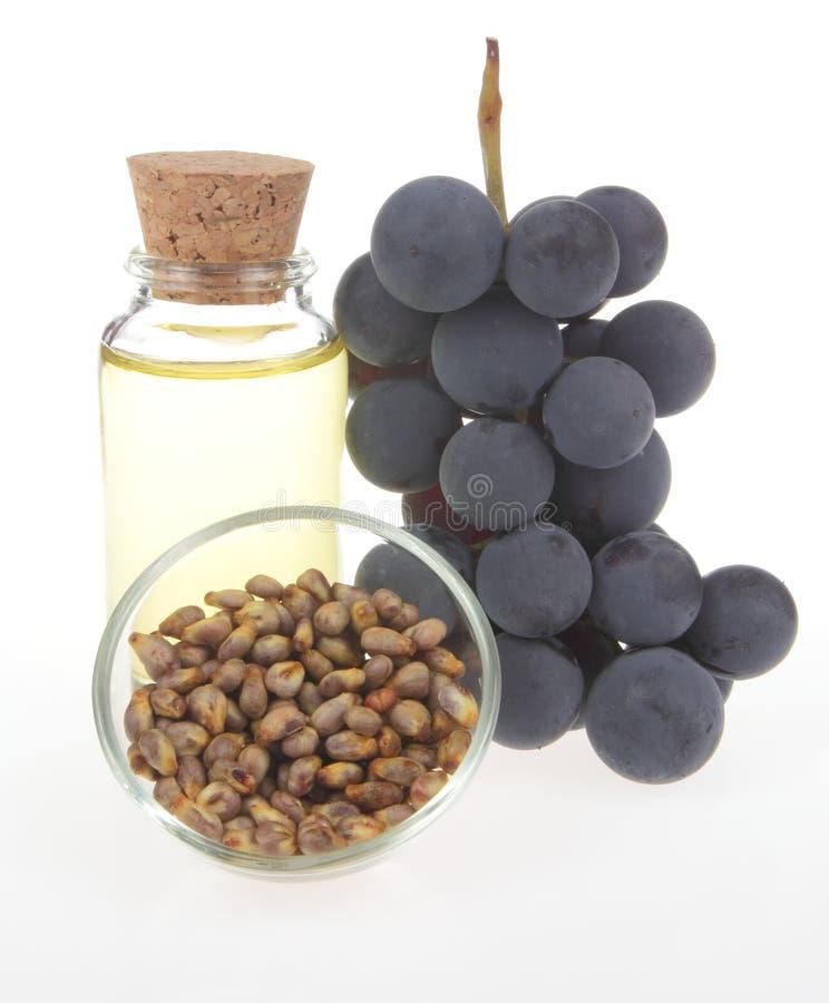 Petróleo de semente da uva imagem de stock royalty free