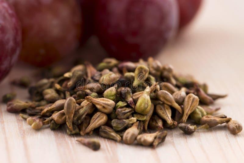 Petróleo de semente da uva imagem de stock