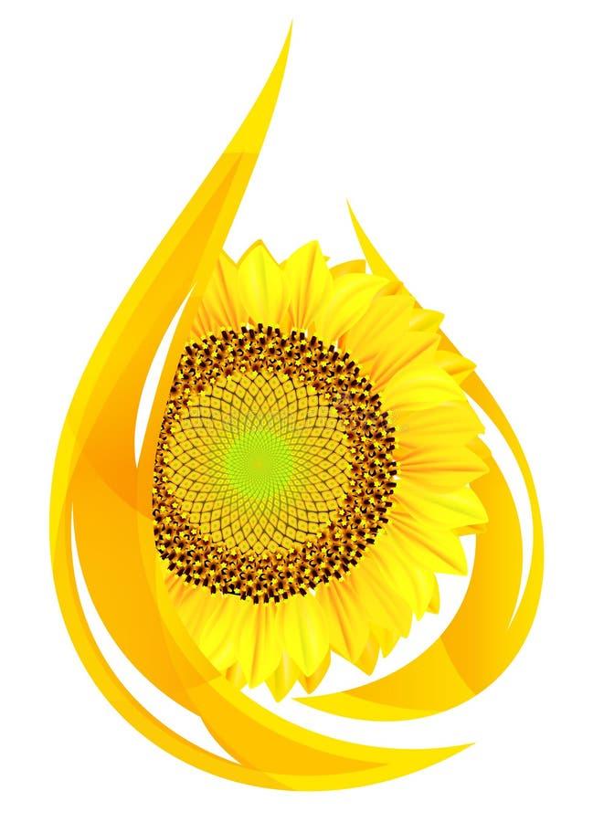 Petróleo de Unflower. ilustração royalty free