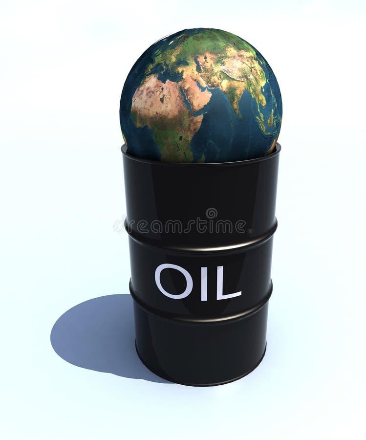 Petróleo do mundo ilustração royalty free