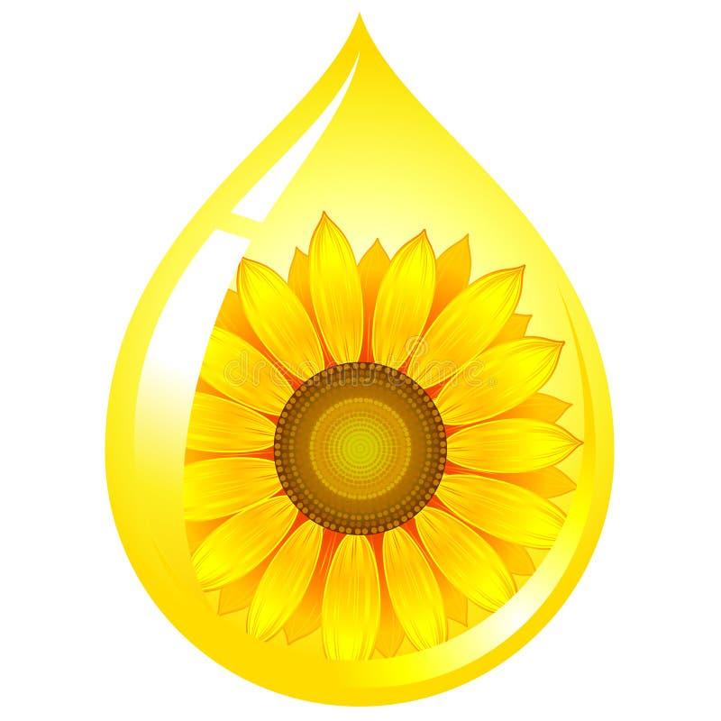 Petróleo do Sunflower-seed ilustração do vetor