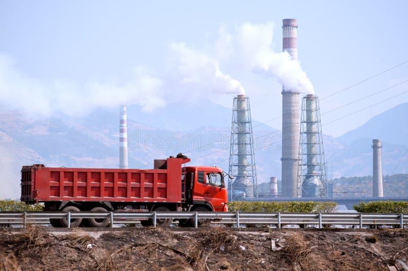 Petróleo e central química de China fotografia de stock royalty free