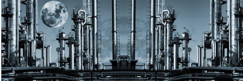Petróleo e gás de Ginat panorâmico fotografia de stock