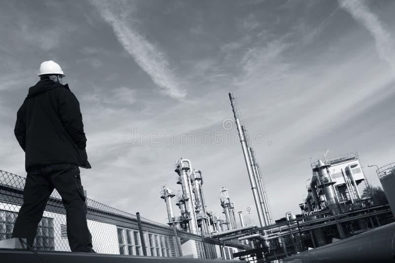 Petróleo e gás de negligência fotografia de stock