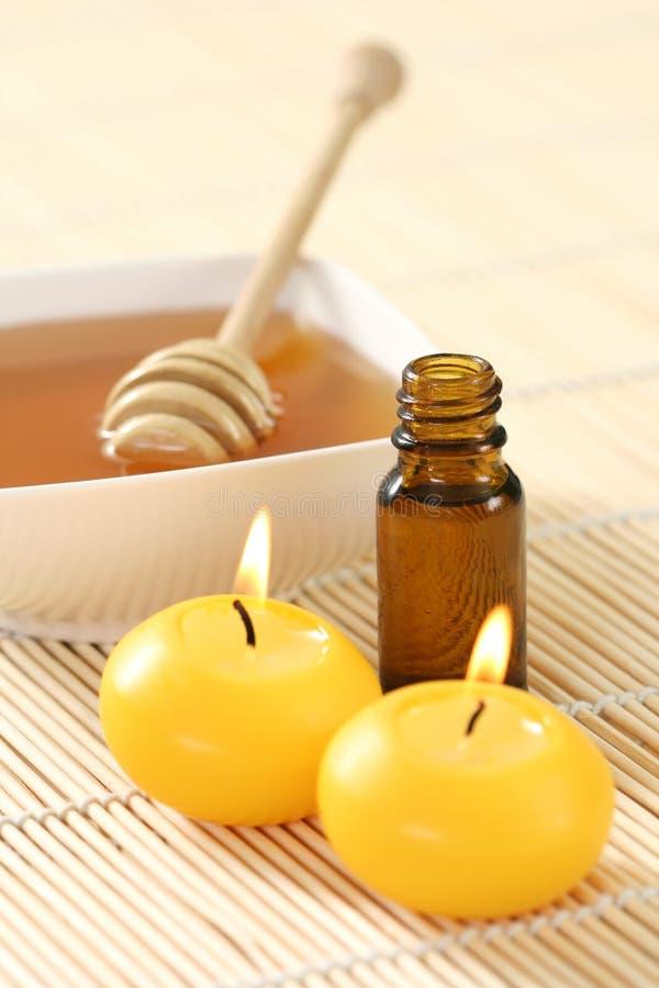Petróleo essencial do mel fotografia de stock