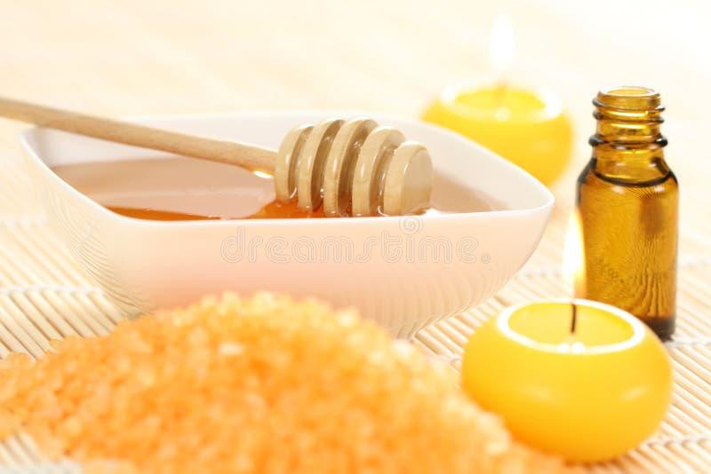 Petróleo essencial do mel fotos de stock