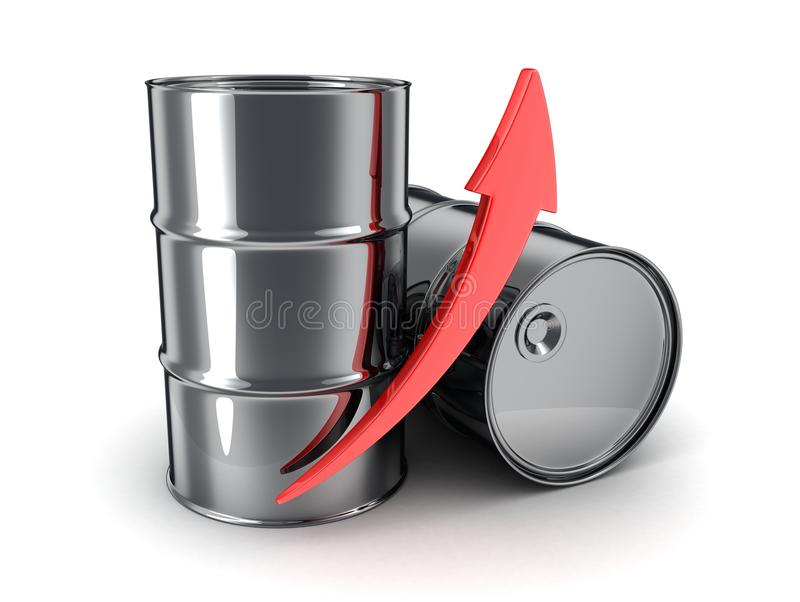 Petróleo, flecha para arriba ilustración del vector