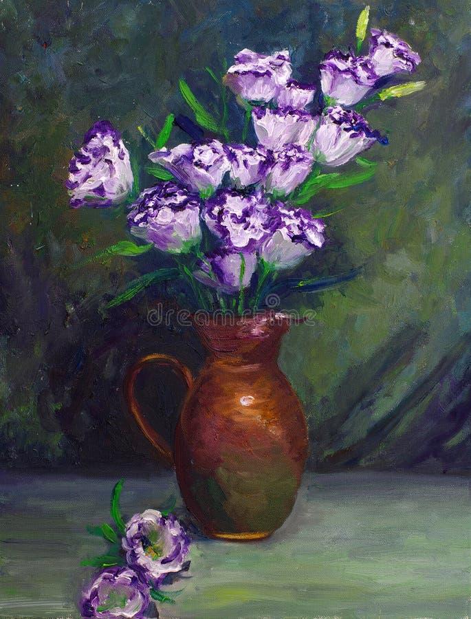 Petróleo-Pintura - flor de globo stock de ilustración