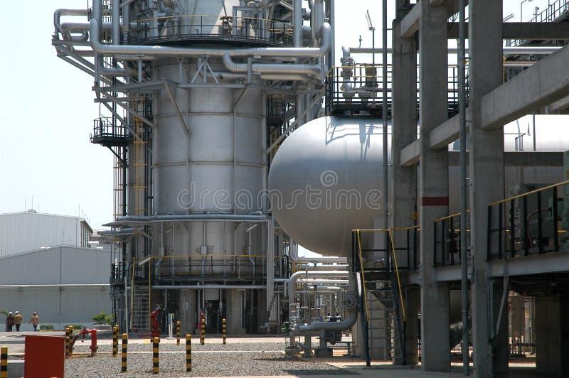 Petróleo sin plomo Refinenery fotografía de archivo