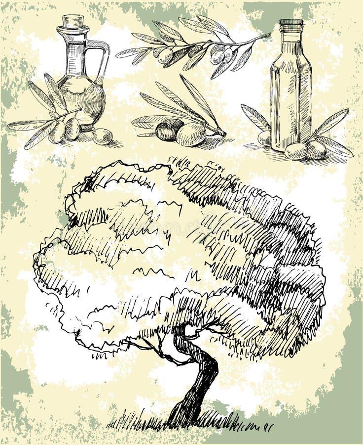Petróleo verde-oliva ilustração do vetor