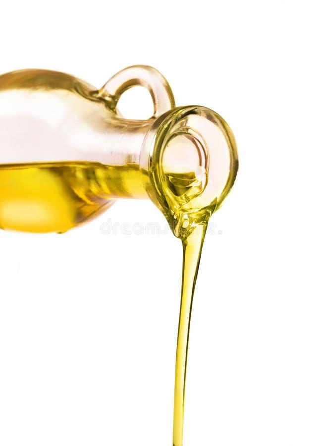Petróleo verde-oliva em um frasco fotografia de stock royalty free