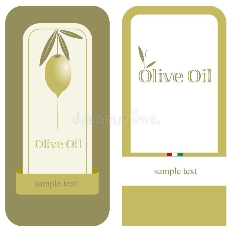 Petróleo verde-oliva/etiqueta ilustração do vetor