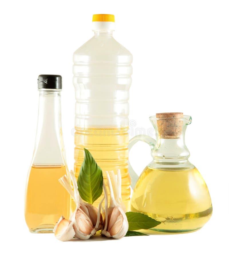 Petróleo verde oliva y vegetal imágenes de archivo libres de regalías