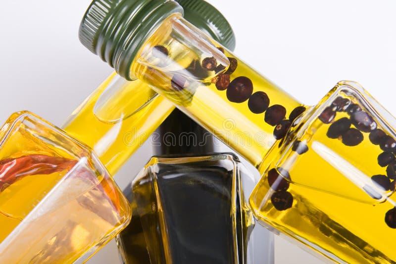 Petróleos comestíveis diferentes foto de stock