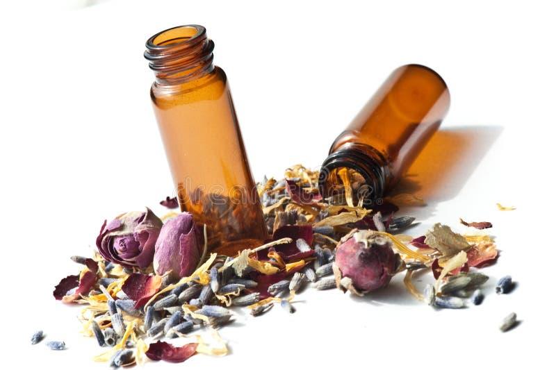 Petróleos essenciais Aromatherapy imagem de stock royalty free