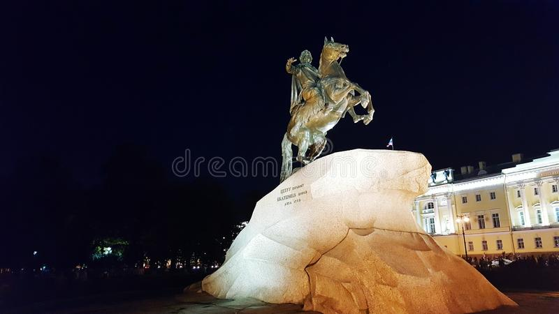Petr 1 monument stock photography