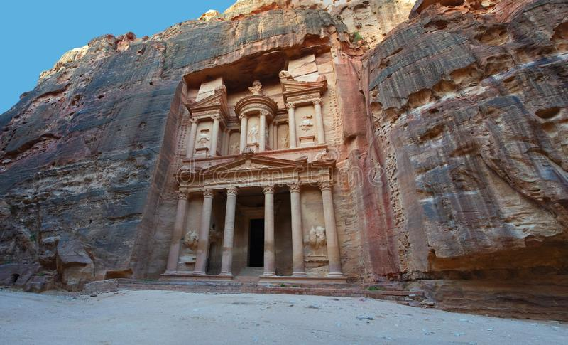 Petra财宝,约旦旅行,中东 库存照片