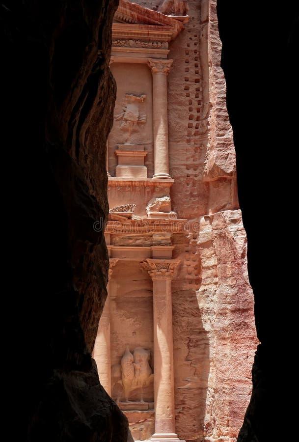 Petra в Джордане стоковое фото rf