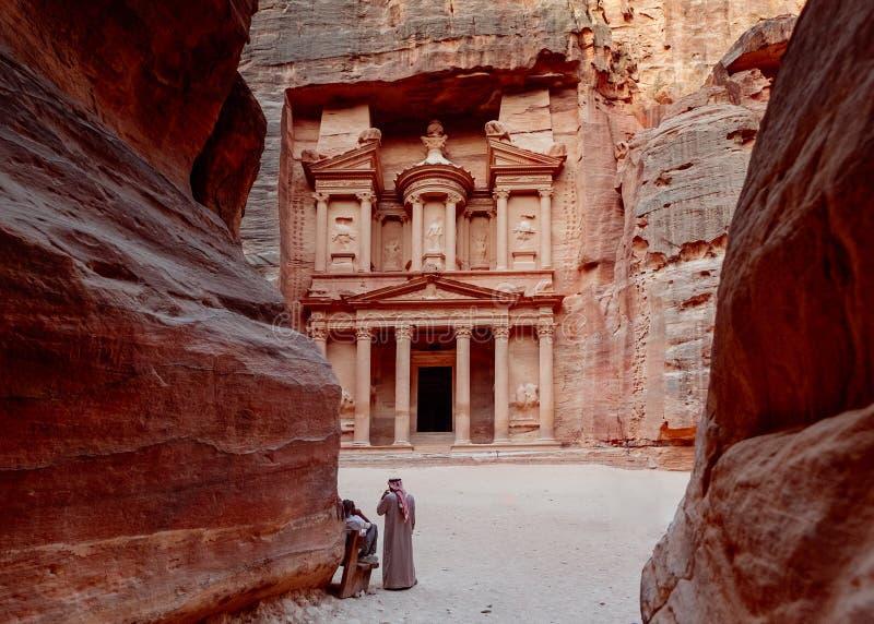 Petra Иордан стоковые фотографии rf