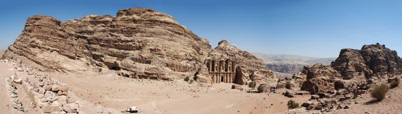 Petra, the Monastery, known as Ad Deir or El Deir, Petra Archaeological Park, Jordan, Middle East, desert, landscape. Jordan, 02/10/2013: the Jordanian landscape stock photography