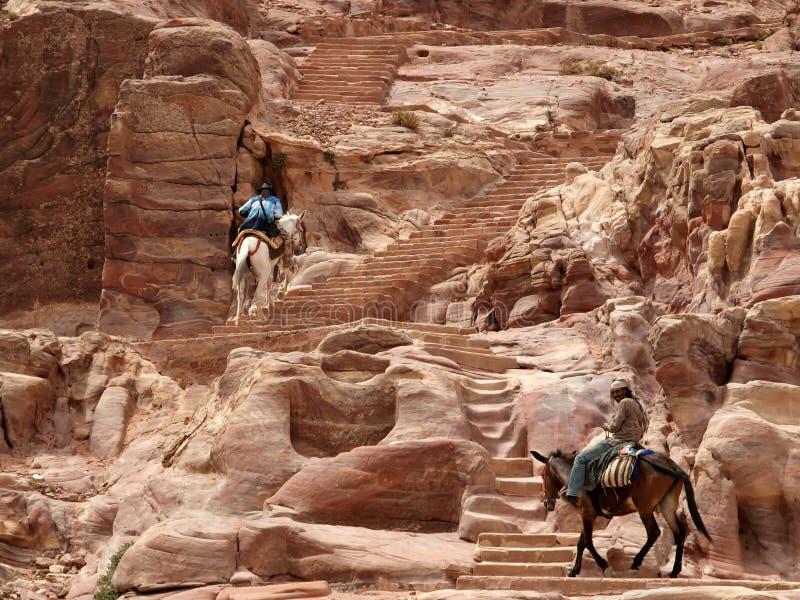 Petra. canyon royalty free stock photo