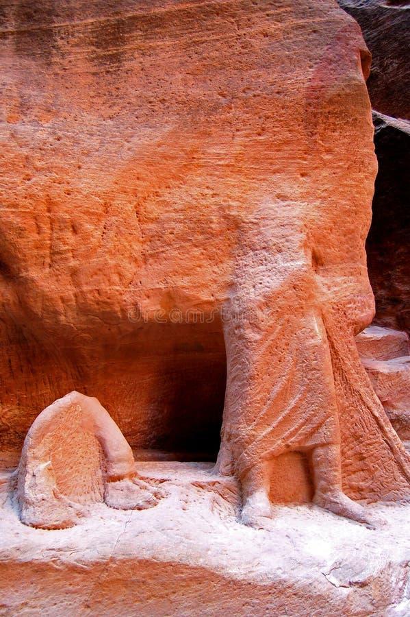 Petra, ciudad perdida de la roca de Jordania imagenes de archivo