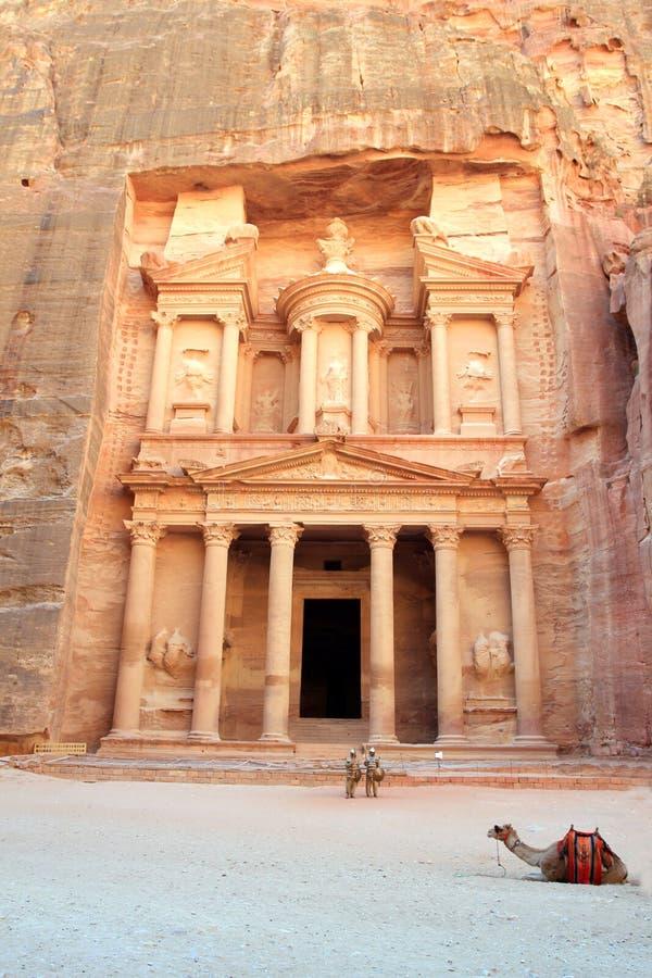 Petra, ciudad perdida de la roca de Jordania fotos de archivo libres de regalías