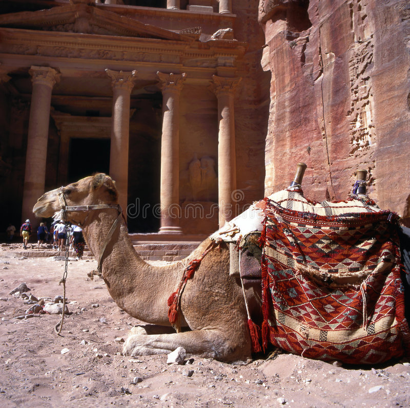 PETRA em Jordão foto de stock royalty free