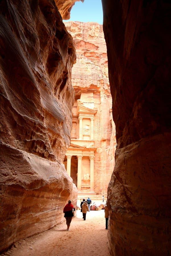 Petra en Jordania imagen de archivo libre de regalías