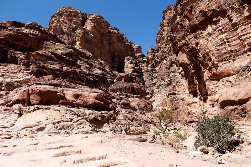 Petra en Jordania foto de archivo