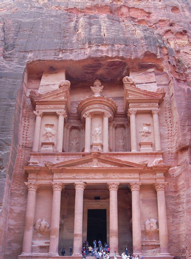 Petra en Jordania. Santuario imagen de archivo libre de regalías