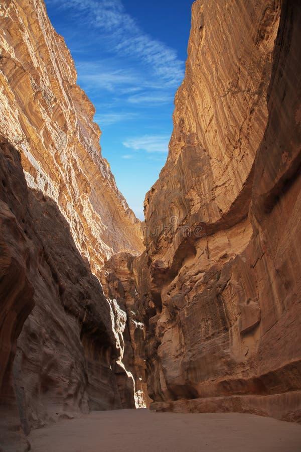 Petra entrance royalty free stock photos