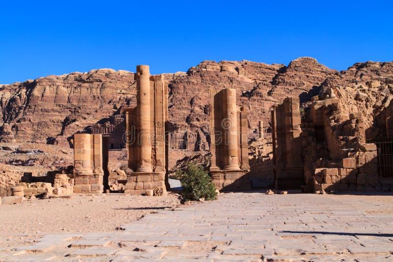 Petra, Jordan. Temenos Gate in Petra, Jordan stock photos