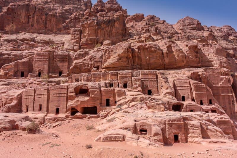 Petra Jordan ha scolpito il tempio immagini stock