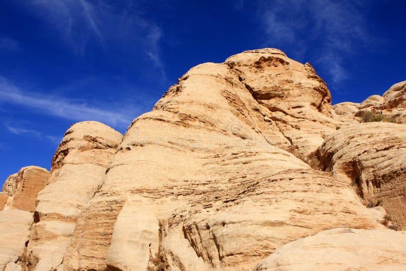 Petra in Jordan. Rock formations in the nabatean city of Petra in Jordan stock photo