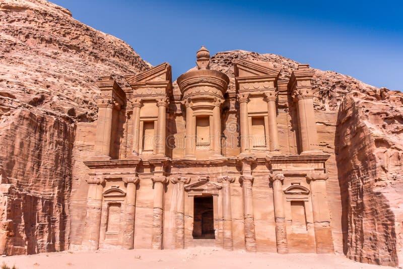 Petra Jordan Temple fotografering för bildbyråer