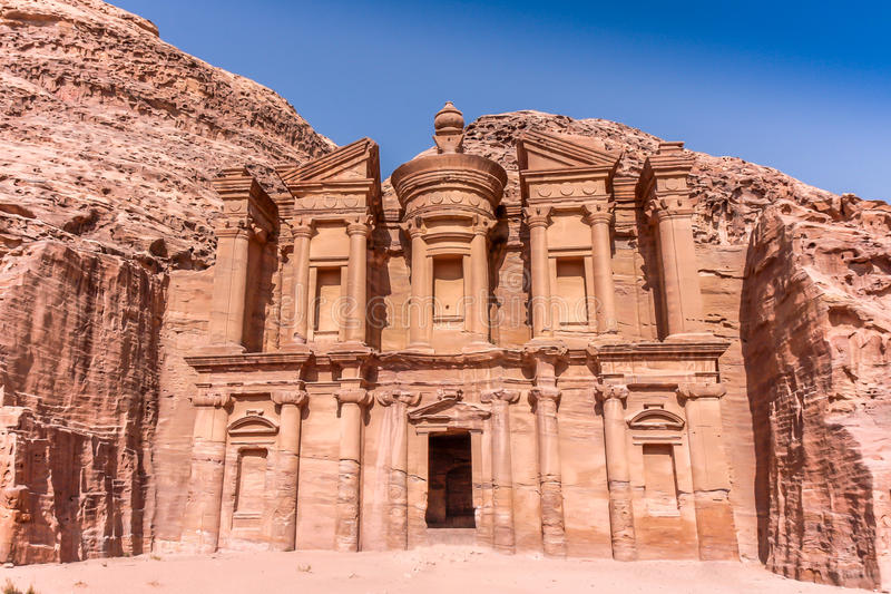 Petra Jordan Temple imagen de archivo